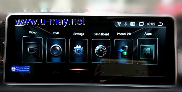 10.25 BMW 1 Series F20 Android Navigation screen